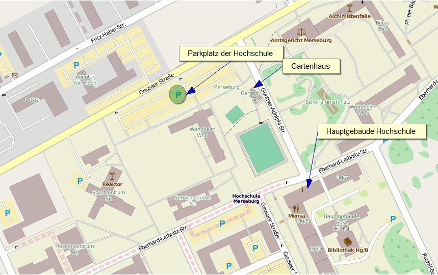 Open Street-Map vom Campus